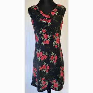 Betsy Lauren Sz 3 Dress Floral Blooms Vintage